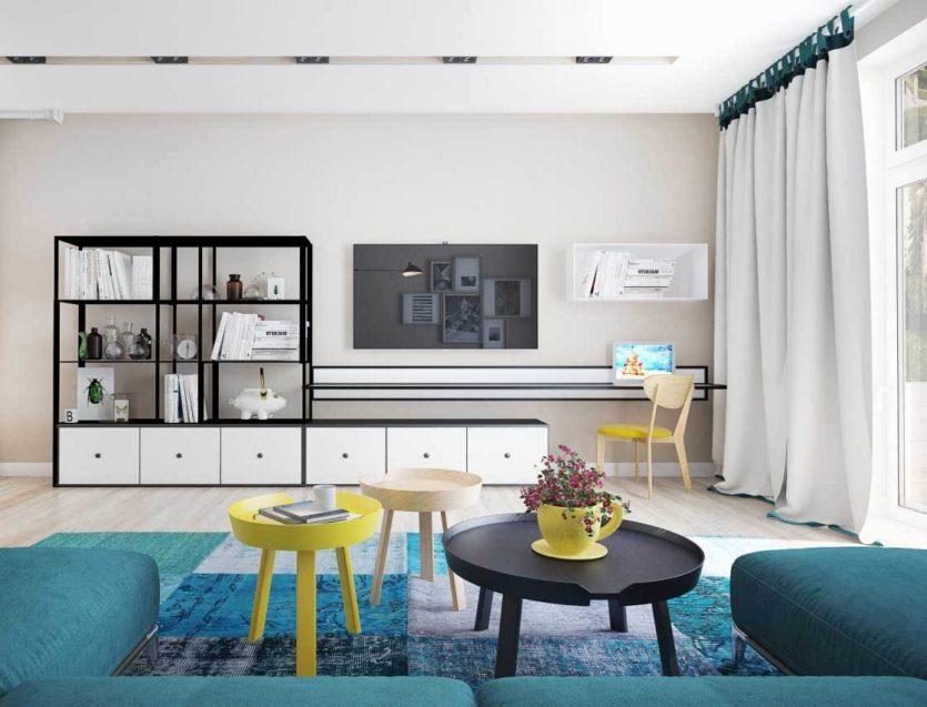 белые шторы в гостиной фото декор