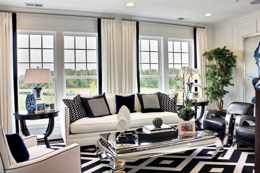 белые шторы в гостиной виды