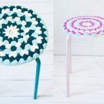 вязаные чехлы на стулья и табуреты фото идеи