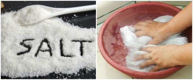 как эффективно отбелить кухонные полотенца солью