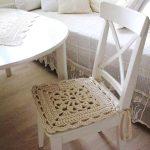 вязаные чехлы на стулья и табуреты идеи декор