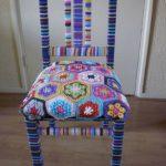 вязаные чехлы на стулья и табуреты интерьер