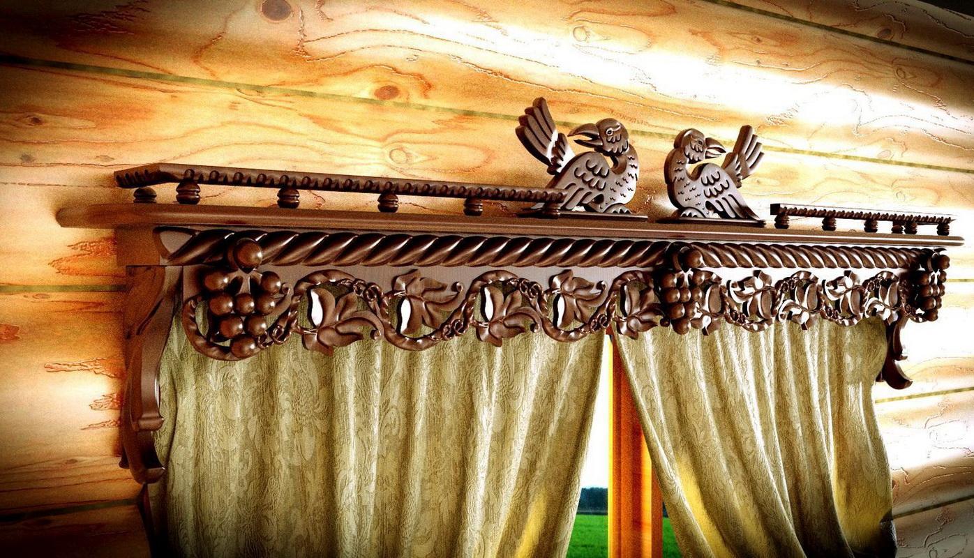 металлические карнизы для штор кованые