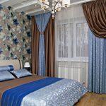 коричневые шторы декор фото