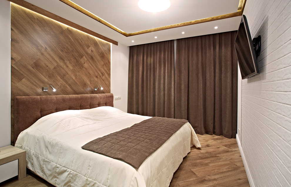 коричневые шторы дизайн фото