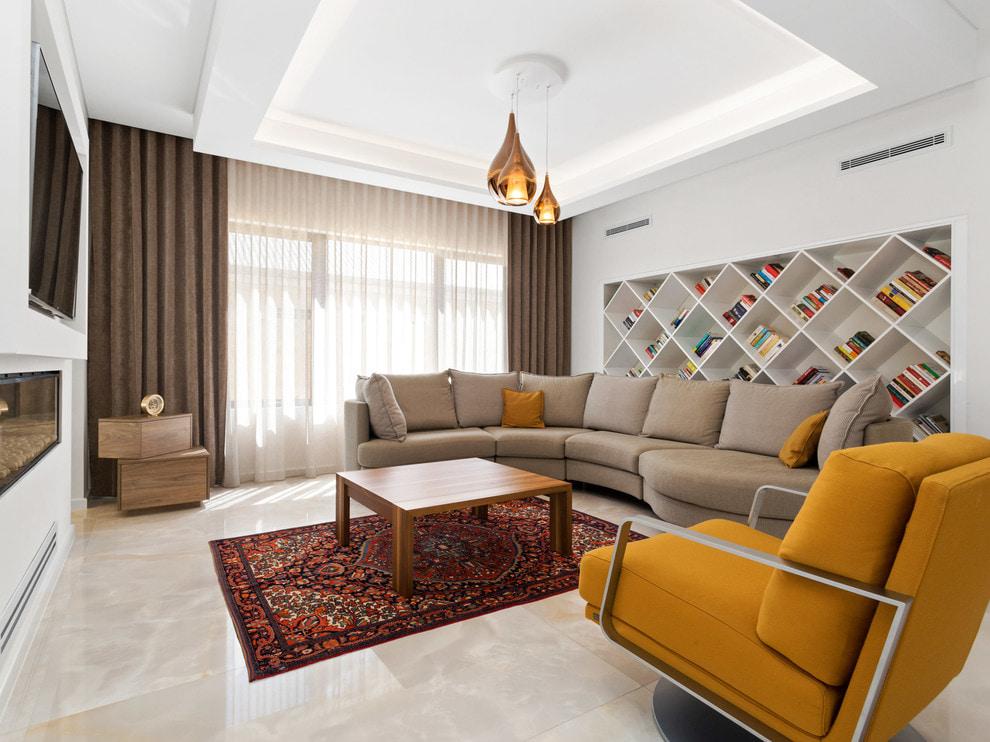 коричневые шторы фото декора