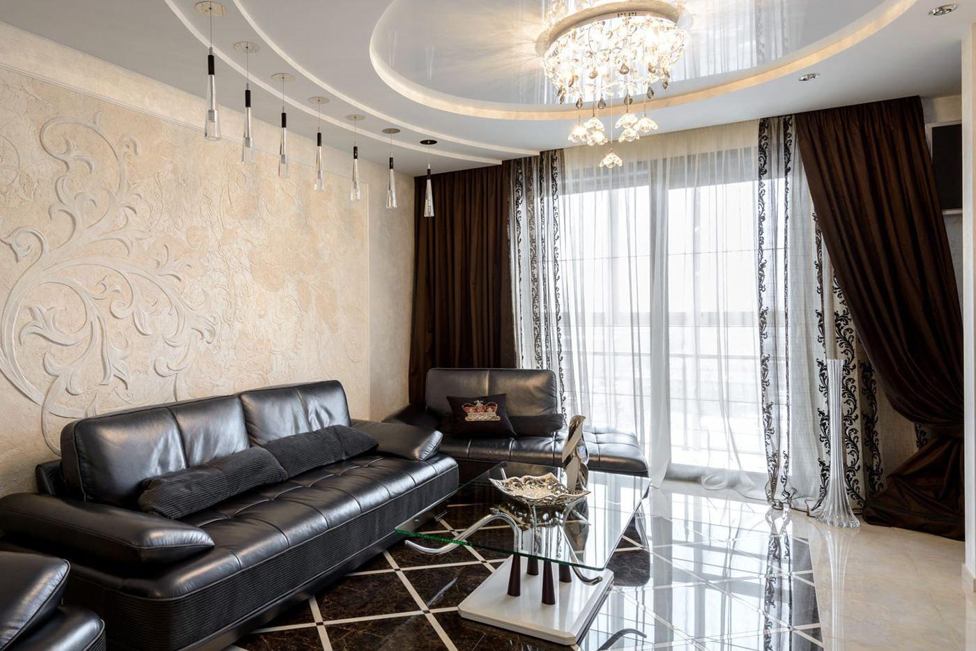 коричневые шторы идеи декор