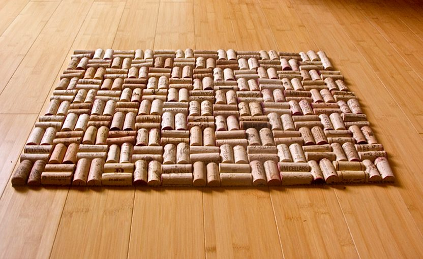коврик из пробок фото декора