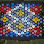 коврик из крышек фото дизайн