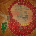 коврик из крышек фото видов