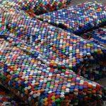 коврик из крышек оформление фото