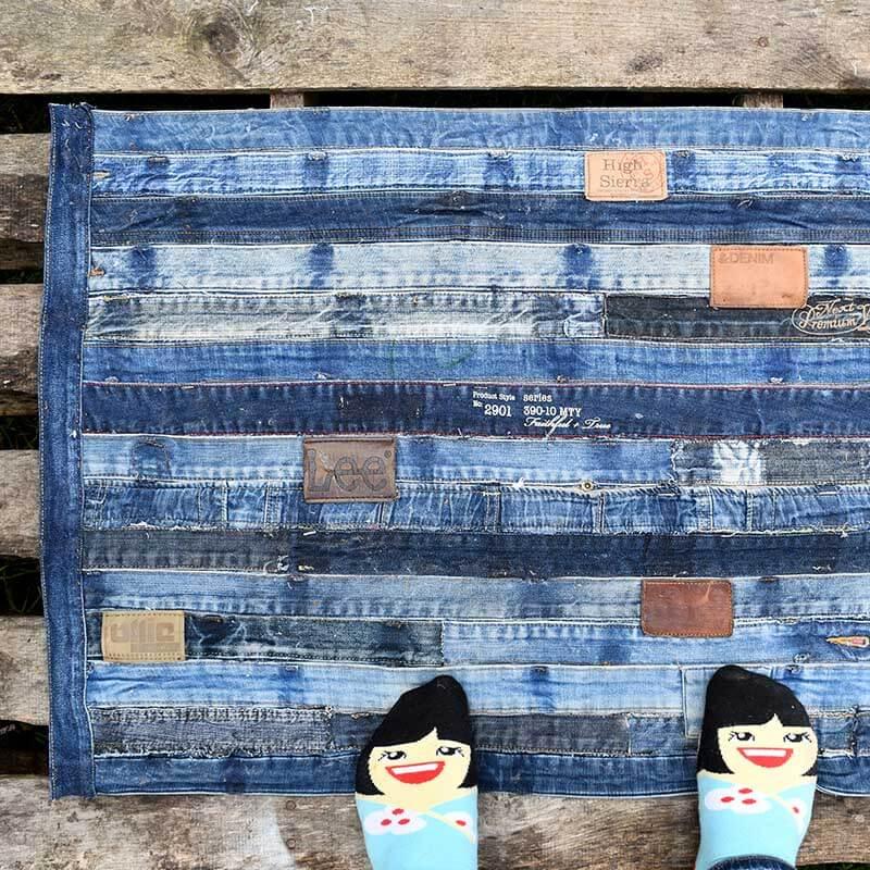 коврик из старых джинсов идеи