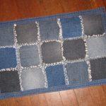 коврик из старых джинсов своими руками варианты фото