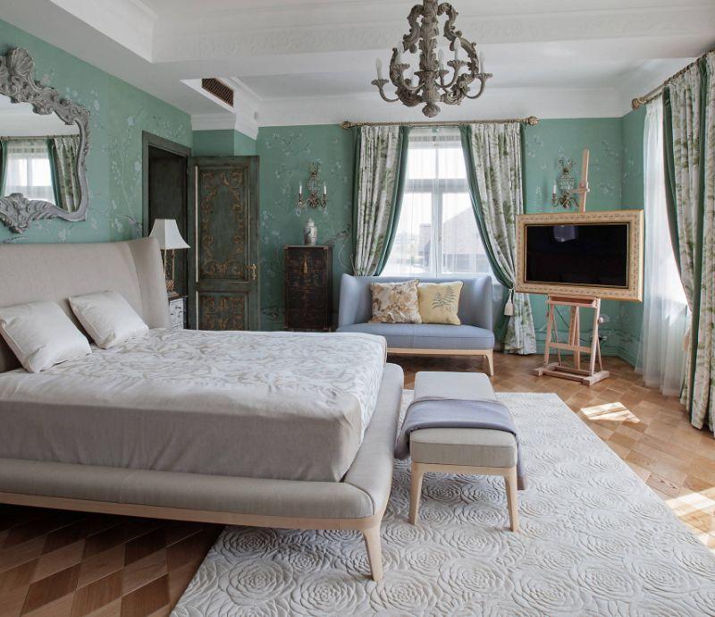 прикроватные классические коврики для спальни оформление