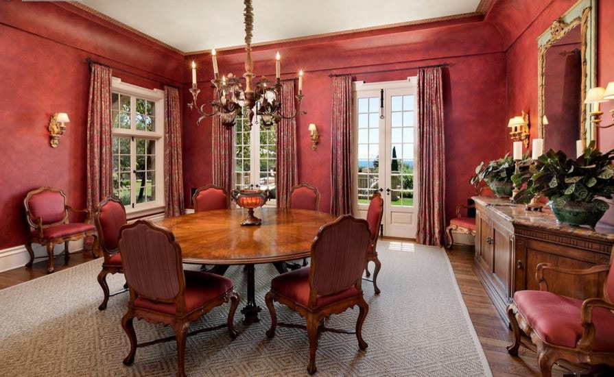 красные шторы фото декора