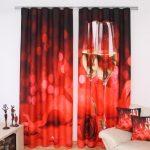 красные шторы обзор фото