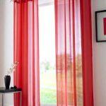 красные шторы оформление фото