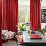 красные шторы варианты фото