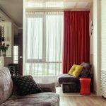 красные шторы варианты идеи