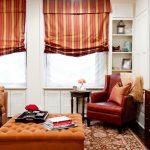 красные шторы виды фото