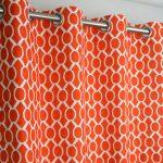 оранжевые шторы фото декор