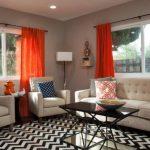 оранжевые шторы фото дизайн
