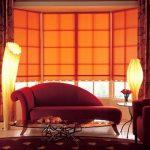 оранжевые шторы фото интерьер