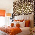 оранжевые шторы фото интерьера