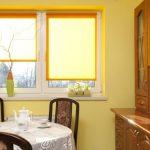 оранжевые шторы фото оформление