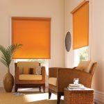 оранжевые шторы фото варианты