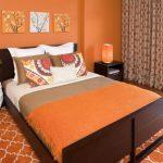 оранжевые шторы идеи декор