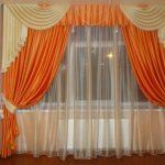 оранжевые шторы идеи видов