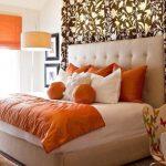 оранжевые шторы виды дизайна