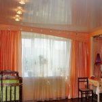 оранжевые шторы виды фото