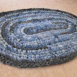 плетеный коврик из старых джинсов своими руками