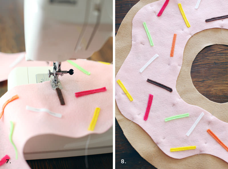 подушка пончик своими руками декор