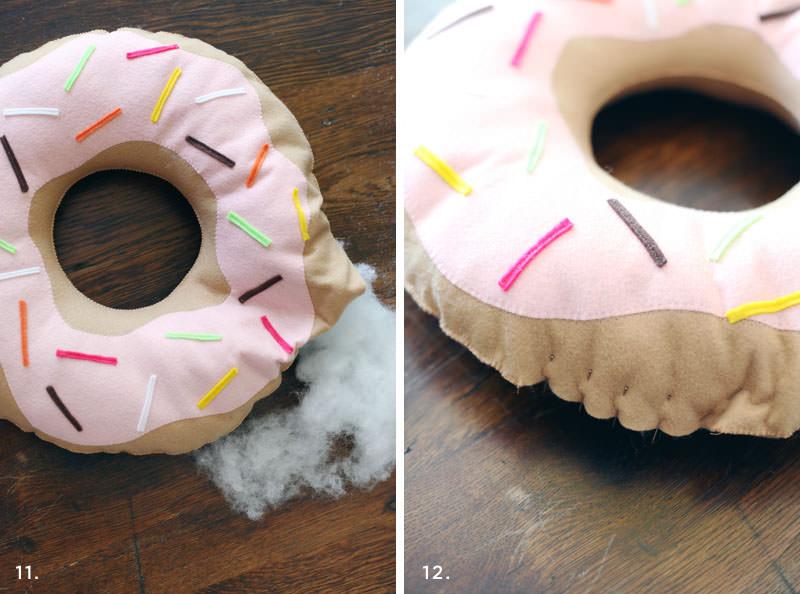 подушка пончик своими руками фото декора