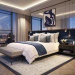 прикроватные классические коврики для спальни фото видов