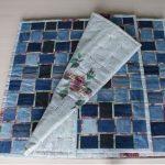 прикроватный коврик из старых джинсов своими руками