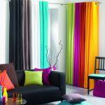 радужные шторы дизайн фото