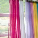 радужные шторы фото декора