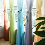 радужные шторы фото дизайна