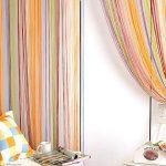 радужные шторы фото интерьер