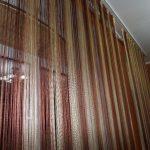 радужные шторы интерьер