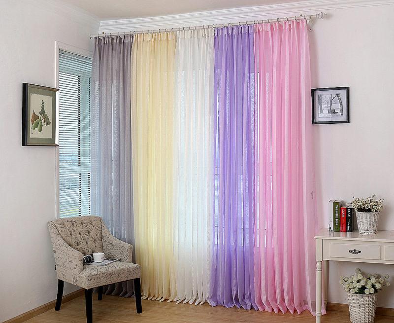радужные шторы сетка