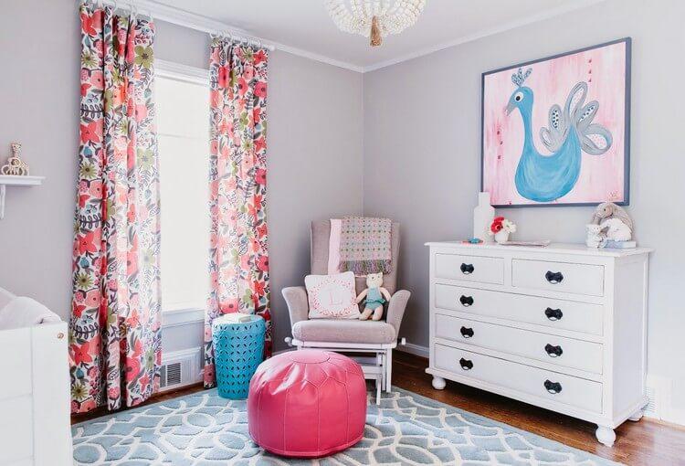 шторы в детскую комнату для девочки декор фото