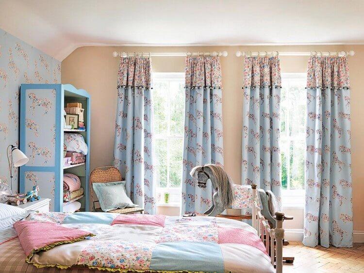 шторы в детскую комнату для девочки декор идеи