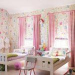 шторы в детскую комнату для девочки фото оформления