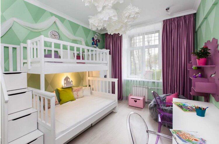 шторы в детскую комнату для девочки оформление