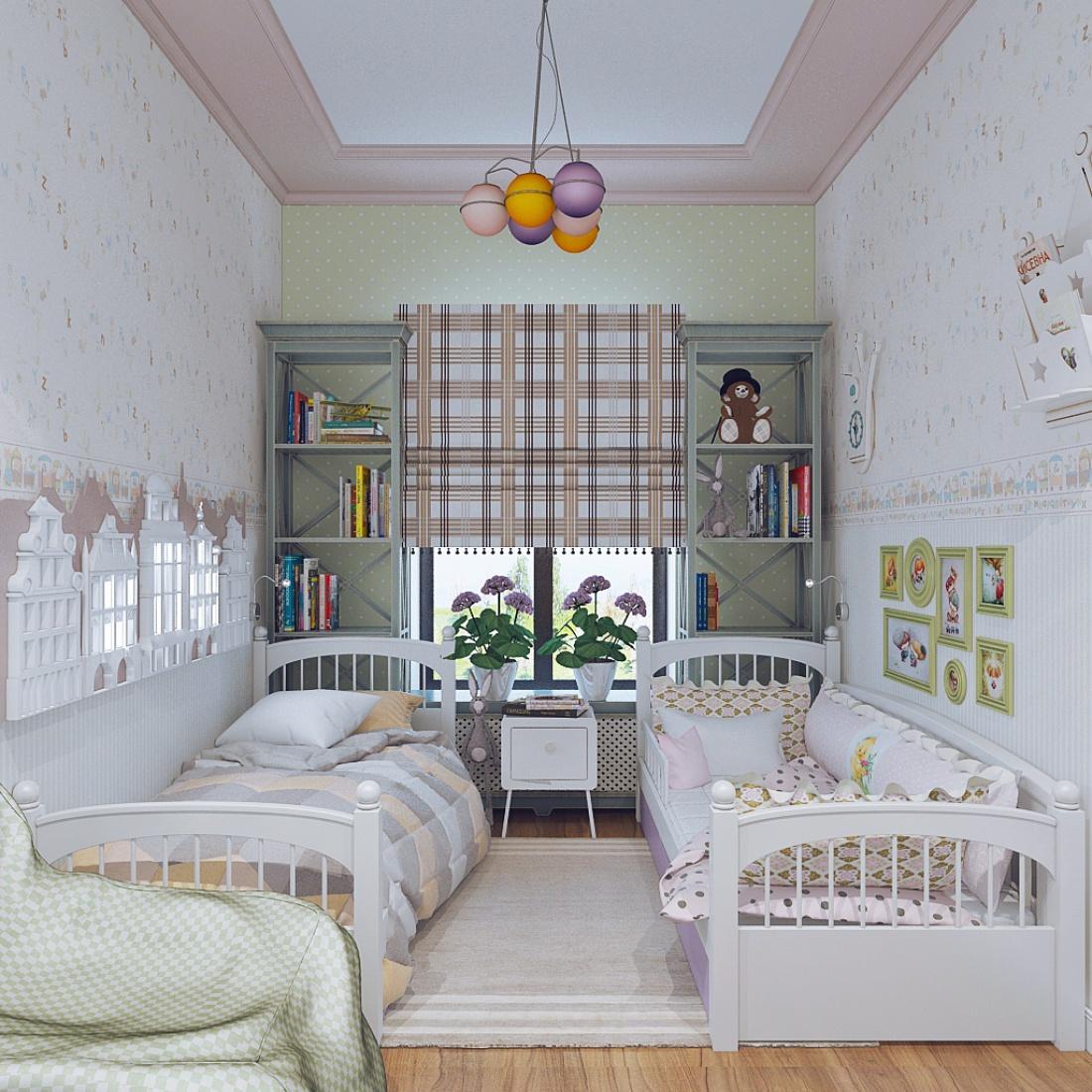 шторы в детскую для разнополых детей